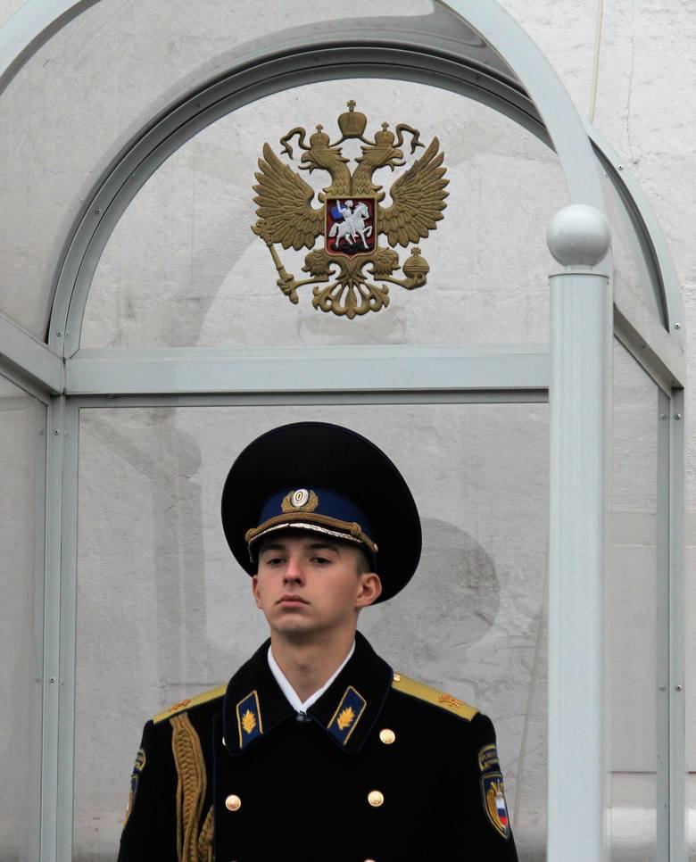 Plac Czerwony. Kremlowski gwardzista.