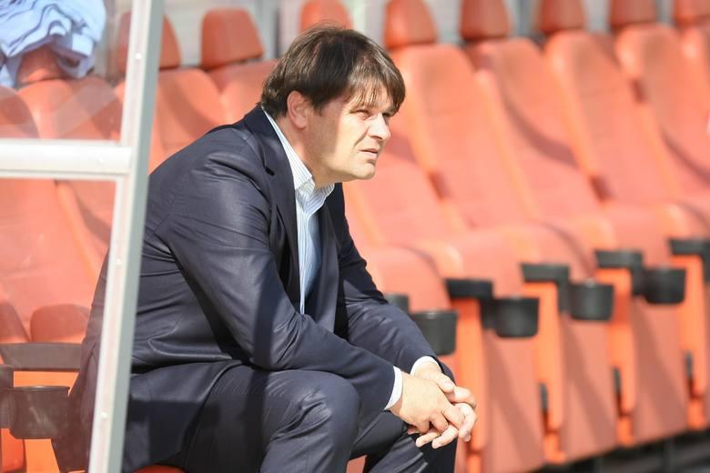 Zawiedziony trener Widzewa Radosław Mroczkowski