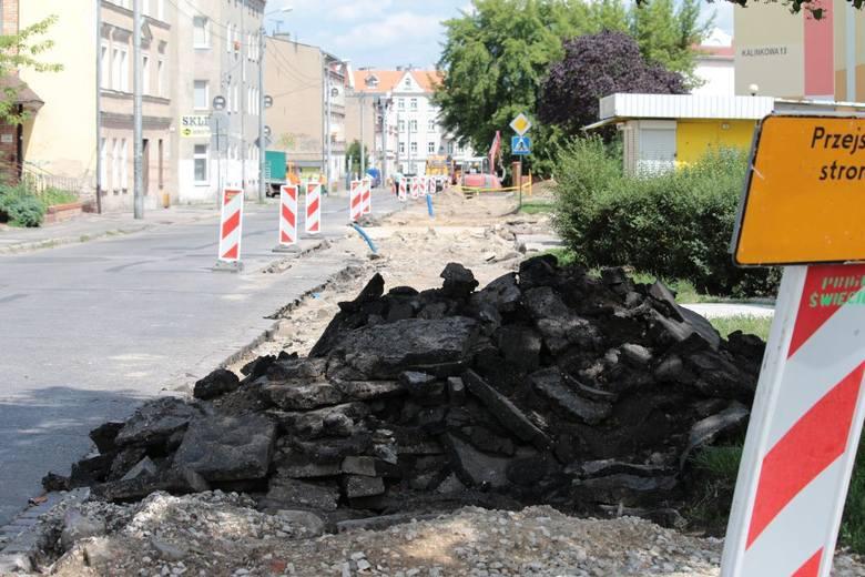 Przebudowa ul. Kalinkowej w Grudziądzu.