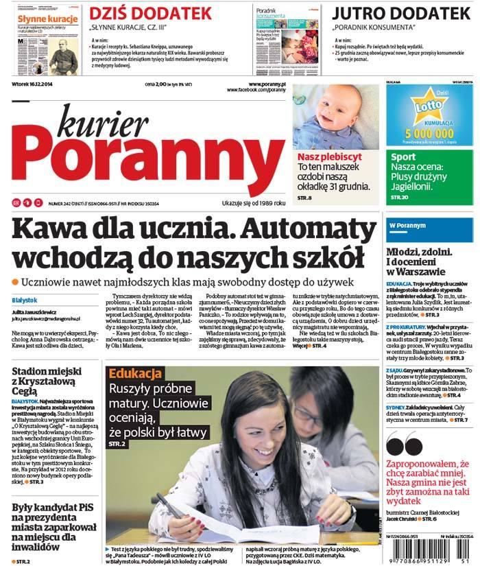 We wtorkowym papierowym wydaniu Kuriera Porannego polecamy: