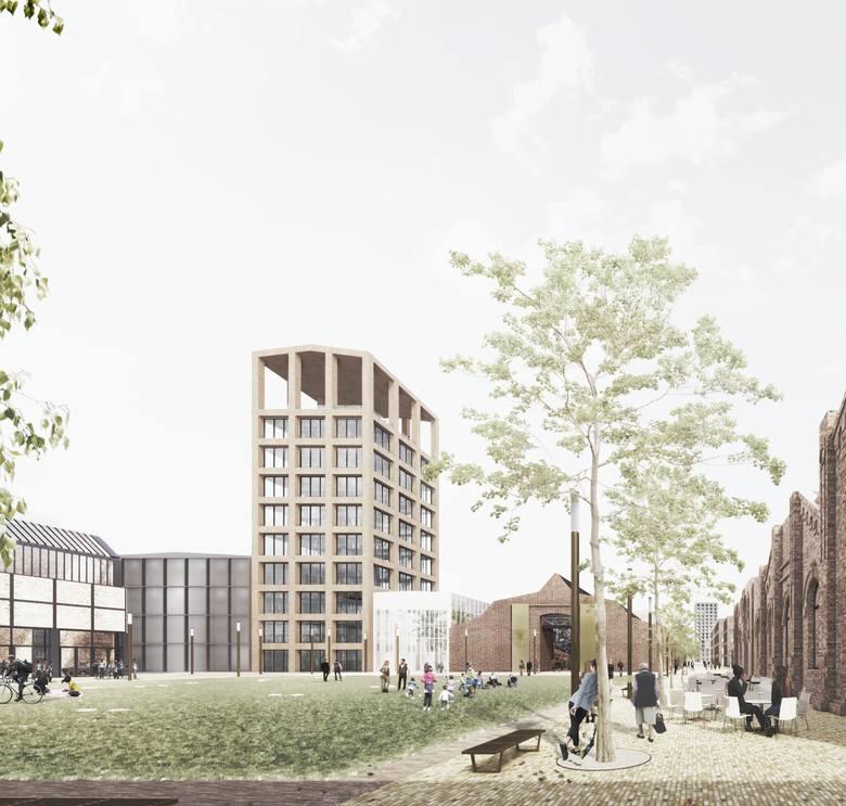 Tak ma wyglądać nowe śródmieście Dąbrowy Górniczej, a na razie gotowe jest centrum multimedialne, które powstało w dawnym warsztacie Dąbrowskiej Fabryki