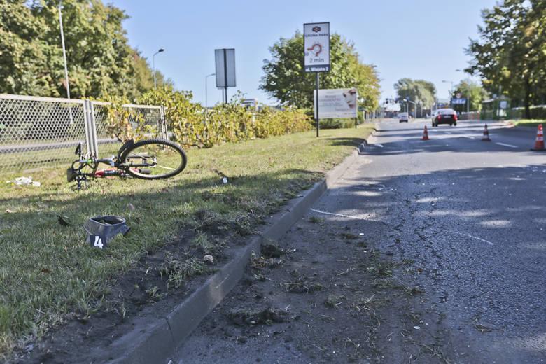 motocyklista potrącił rowerzystkę, zielona góra