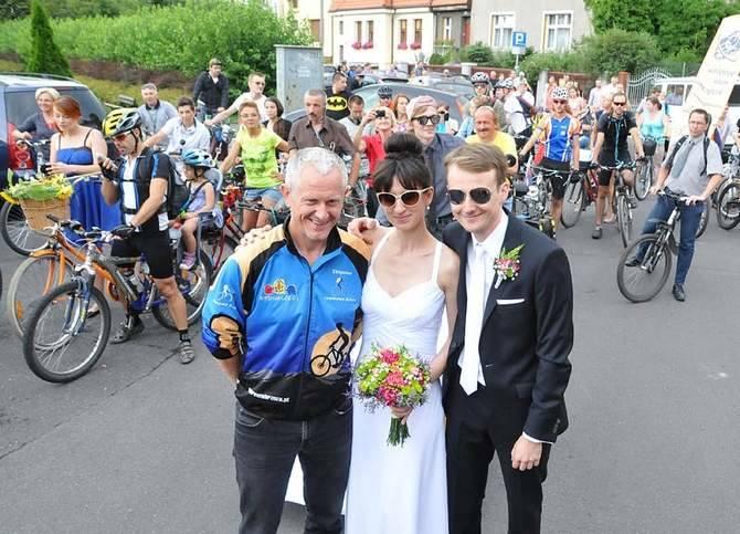 Ślub w eskorcie Bydgoskiej Masy Krytycznej