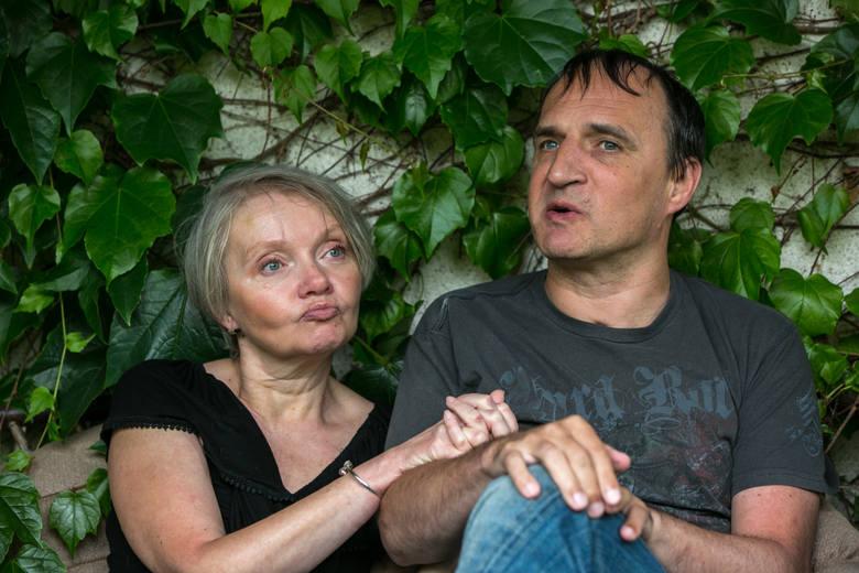 Paweł Rudziński i Teresa Wysocka w swoim domu pod Krakowem