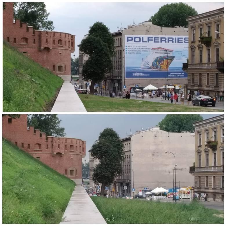 Kraków. Chaos reklamowy w pełni. Na jego koniec jeszcze poczekamy [ZDJĘCIA]