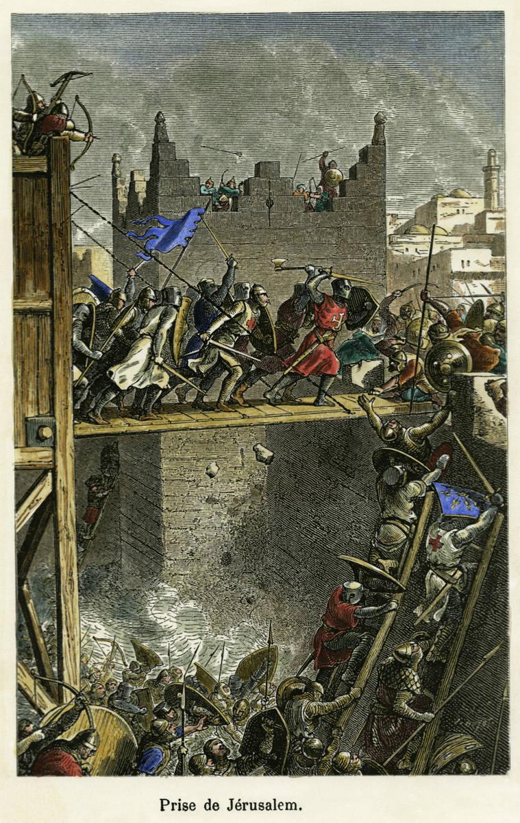 Zdobycie Jerozolimy w 1099 r. (Jules Huyot, 1880)