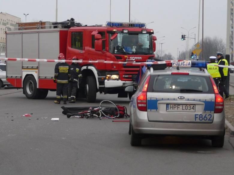 Tragiczny wypadek w Pabianicach - rowerzysta nie żyje