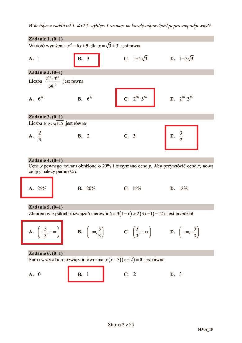 Matura 2020 matematyka podstawa. Odpowiedzi, rozwiązania zadań, ARKUSZ CKE. Co było na egzaminie z matematyki 9.06.2020? Relacje uczniów