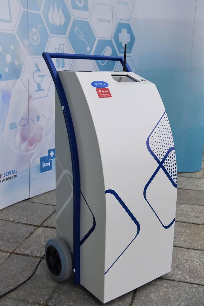 Zgierski szpital testuje nowoczesne urządzenie do dezynfekcji. Będzie zwalczało koronawirusy