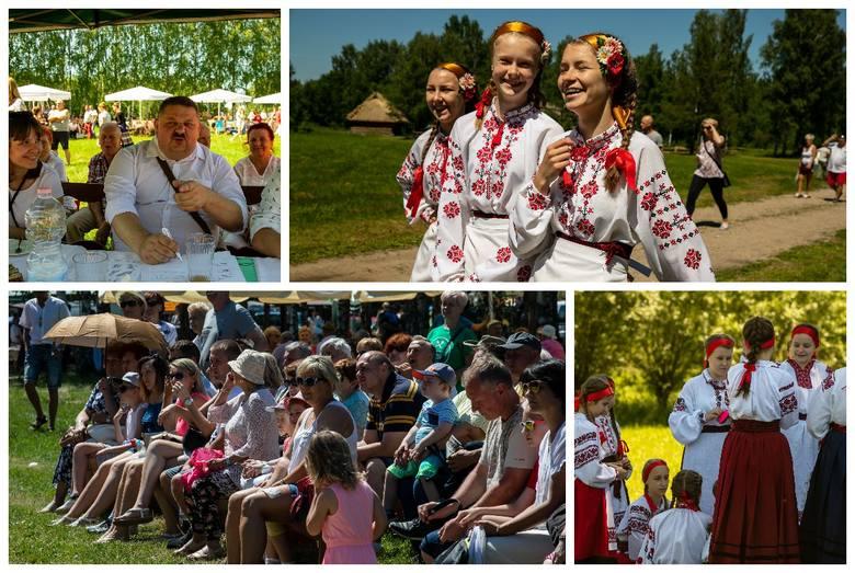"""Podlaskie Muzeum Kultury Ludowej w Wasilkowie zorganizowało w niedzielę festyn etnograficzny """"Zielone świątki w skansenie"""". Można było"""