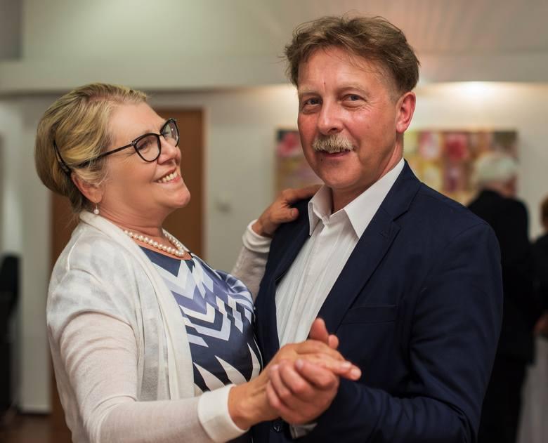 """Redaktor Jarosław Reszka ("""" Express Bydgoski"""") z żoną Małgorzatą."""
