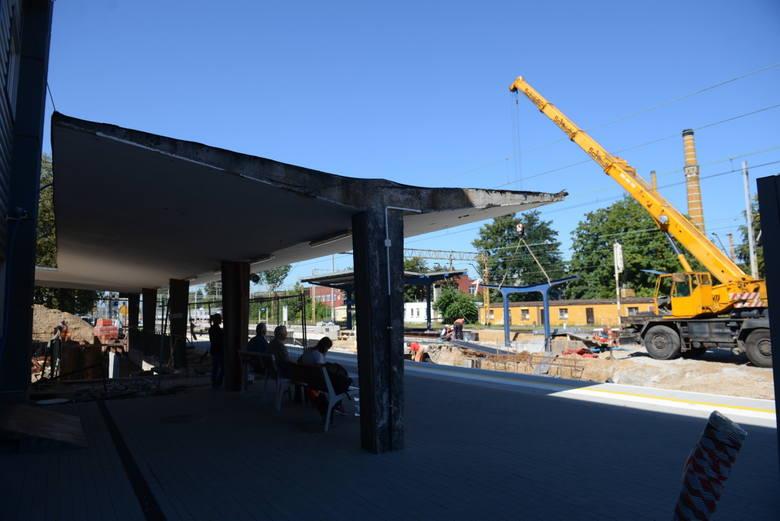 Prace remontowe na terenie dworca w Zielonej Górze