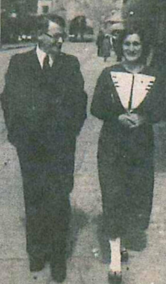 1928 r. Młodzi małżonkowie, Konstanty i Zofia,  w Chełmnie