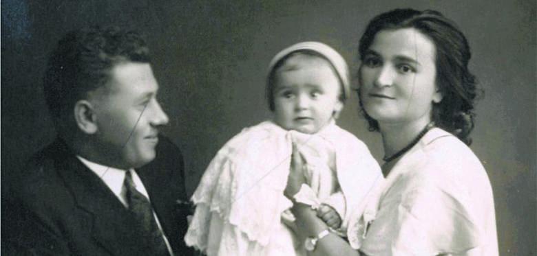Czesław i Lucyna Gebertowie z małym Jurkiem. Wołyń 1931 r.