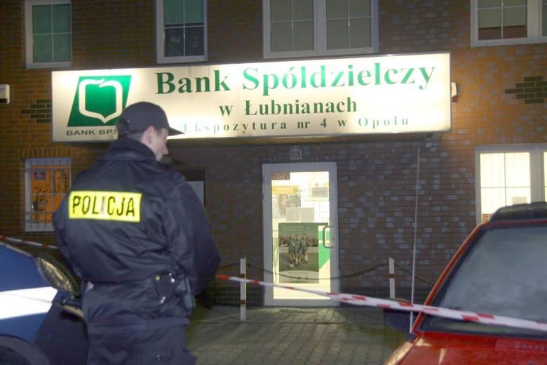 Napad na bank spóldzielczy na ul. Cieszynskiej w Opolu.
