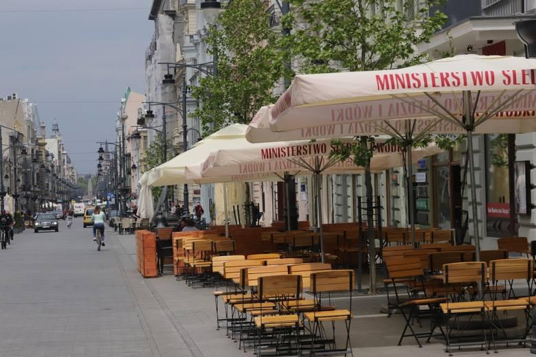 W 2020 r. Piotrkowska zaczęła ożywać dopiero w drugiej połowie maja.