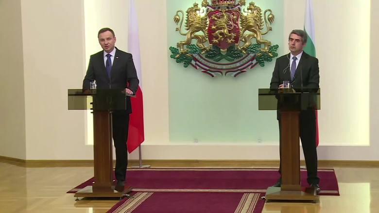 """""""Nie wolno prowadzić polityki izolowania Rosji"""". A. Duda z wizytą w Bułgarii [WIDEO]"""