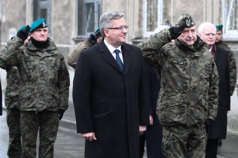 Prezydent Bronisław Komorowski w  jednostce 21. Brygady Strzelców Podhalańskich w Rzeszowie.