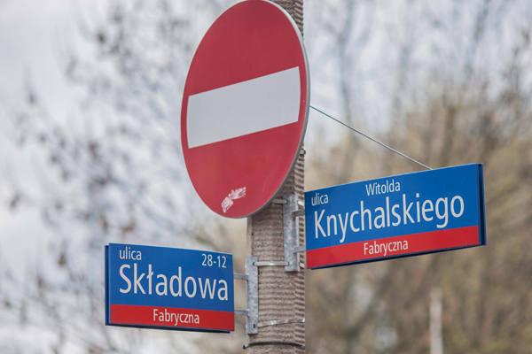 Ulica Knychalskiego została zamknięta dla ruchu.