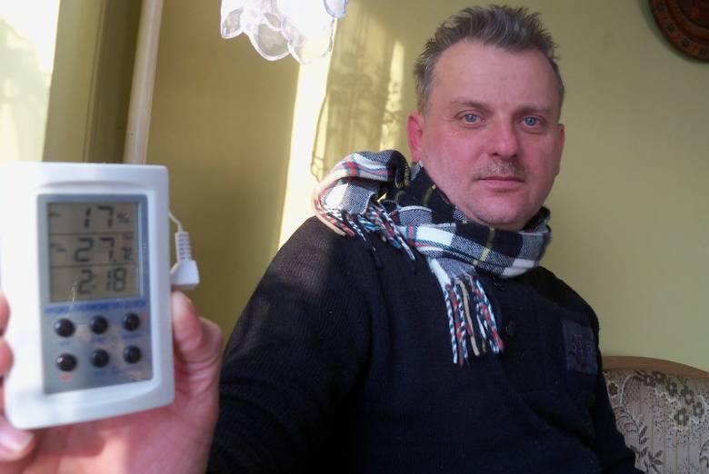 Tadeusz Tarach z Chrzelic miał za oknem minus 27, 7 st. C.