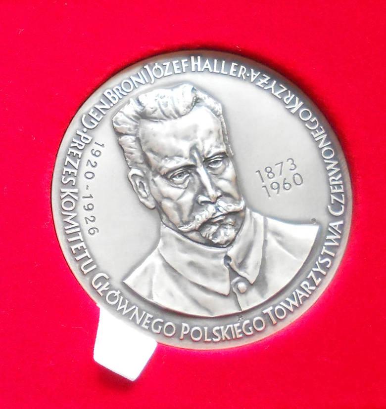 Pamiątkowy medal poświęcony gen. broni Józefowi Hallerowi (awers)