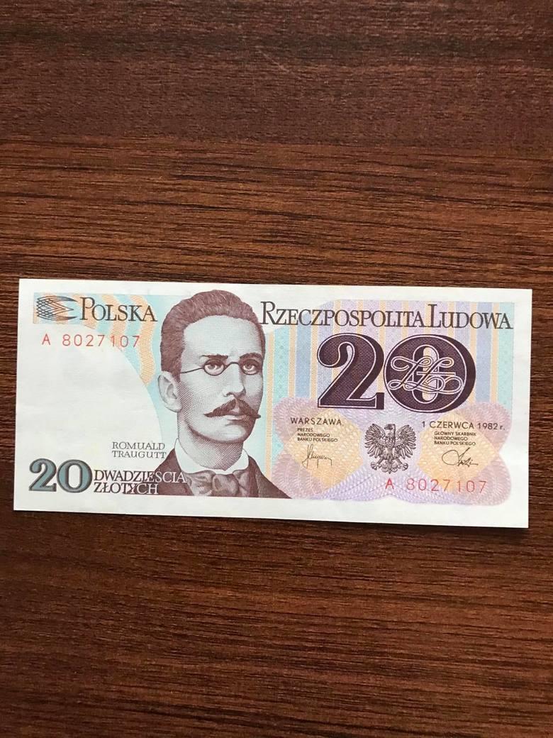 20 zł 1982 - Romuald TrauguttCena do ok. 50 zł