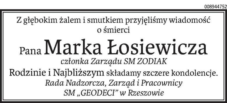 Nekrologi i kondolencje z dnia 7 marca 2019 roku