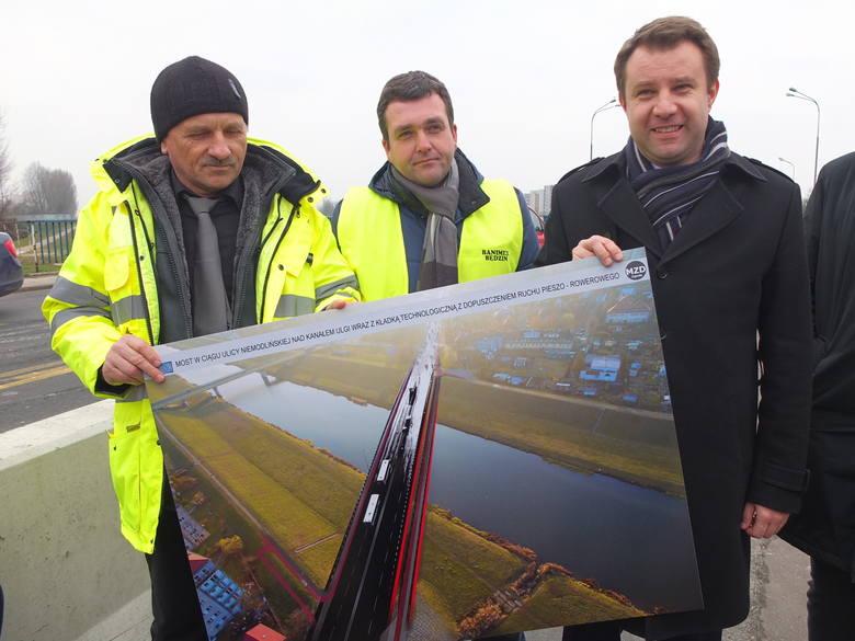 Przekazanie placu budowy nowego mostu.
