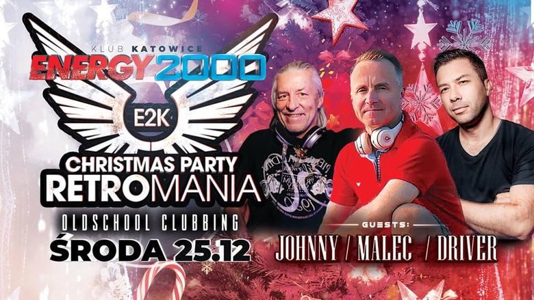 """W pierwszy dzień świąt, w środę 25 grudnia  w katowckim klubie Energy2000 odbędzie się """"RETROMANIA"""". Za konsoletą staną ikony starego,"""