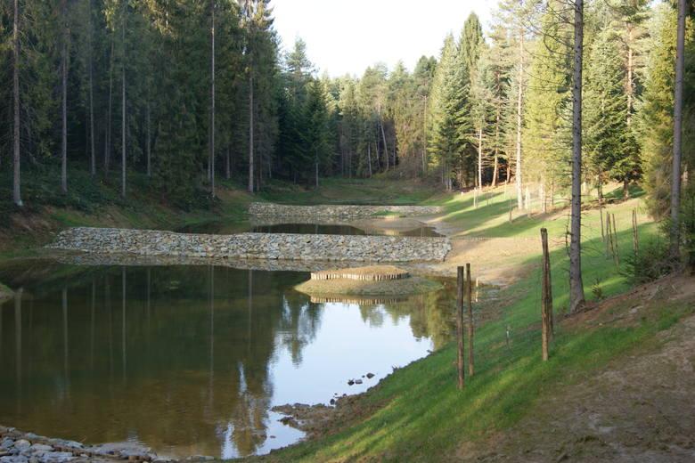 Zbiorniki kaskadowe spowalniają spływ na stromych stokach