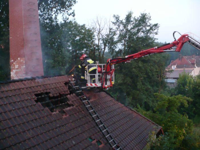 Budynek gasili m.in. strażacy ze Skwierzyny