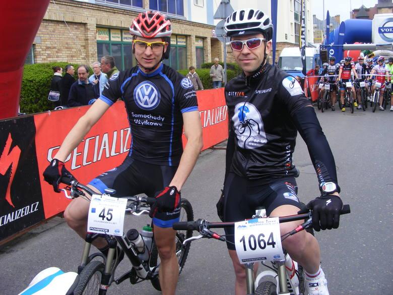 Wojciech Wiktor i Mateusz Rybczyński przed startem