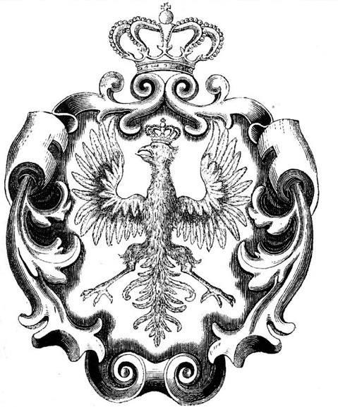 Orzeł z Herbarza Kaspra Niesieckiego z XVIII w.