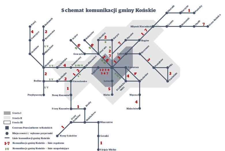 Znany jest już przebieg tras komunikacji miejskiej na terenie gminy Końskie, która ma ruszyć najpóźniej w marcu.>>>ZOBACZ PRZEBIEG
