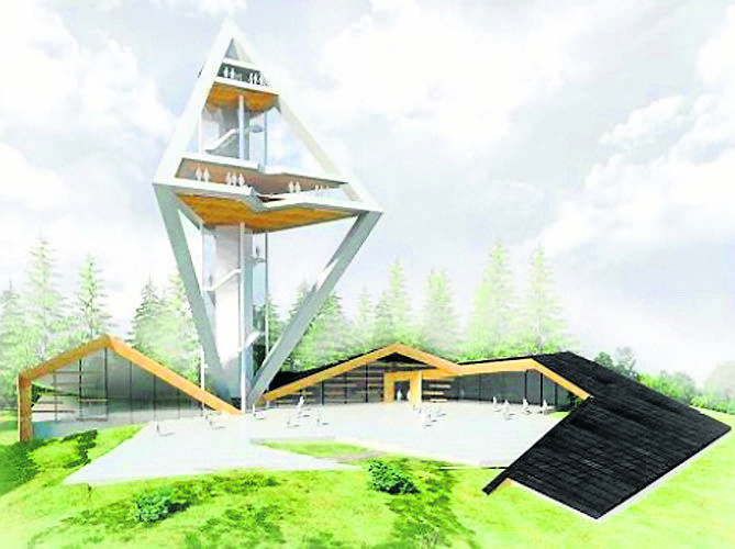 Tak ma wyglądać wieża widokowa na szczycie Butorowego Wierchu w Kościelisku. Na samej górze powstanie mała kawiarnia