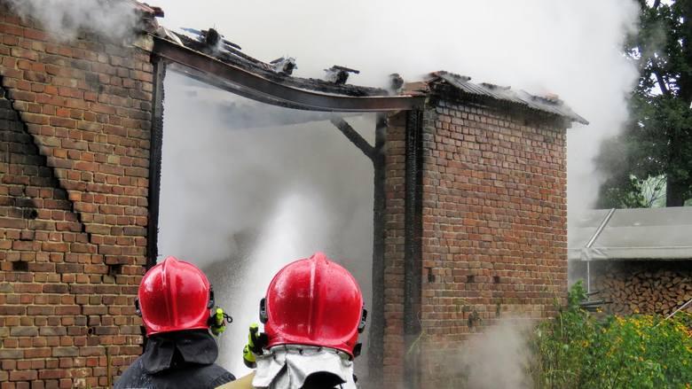 Cztery zastępy straży pożarnej walczyły w czwartek, 16 lipca, z pożarem w Radomi w podzielonogórskiej gminie Świdnica. Ogień był tak wielki, że płomienie