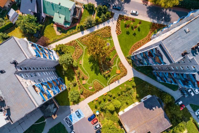 Relaksacyjny Ogród Krakowian przy ul. Franciszka Wężyka