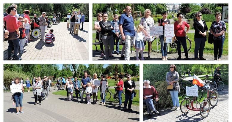 Przyszli do parku w Mogilnie, aby wesprzeć protestujących w Sejmie [zdjęcia]
