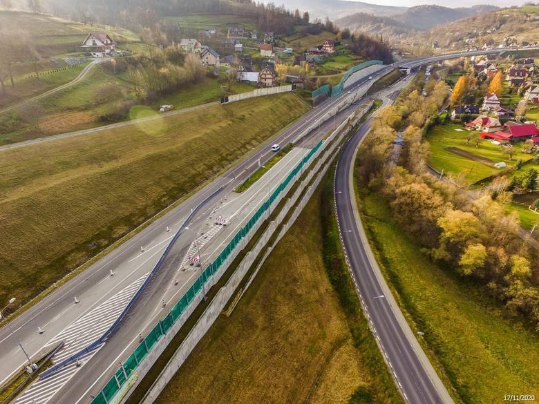 S7 na południe od KrakowaBudowa drogi ekspresowej S7 Lubień - Rabka-Zdrój rozpoczęła się w 2016 r. Widokowa i oczekiwana przez wszystkich jadących w