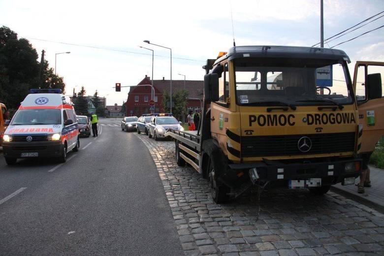 Wypadek na skrzyżowaniu ulic Oleskiej i Lipowej w Opolu