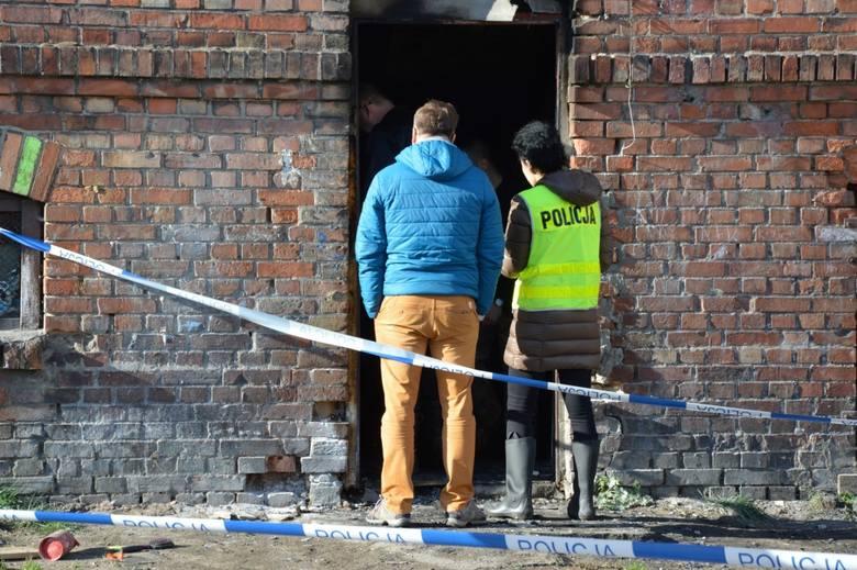 Pożar kamienicy w Lęborku 1.10.2018 przy ul. Pileckiego