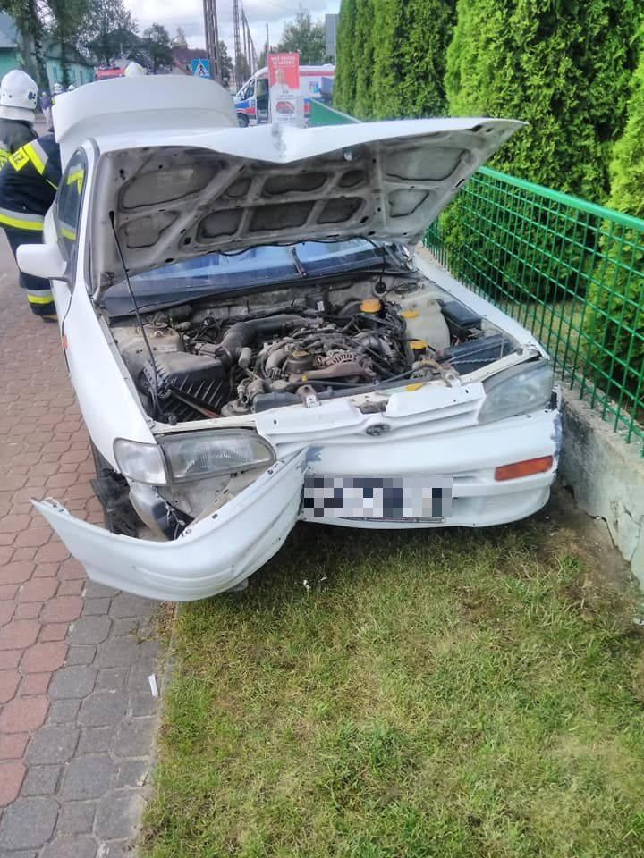 Wypadek w Suchowoli na skrzyżowaniu ulic Augustowskiej i Rzemieślniczej