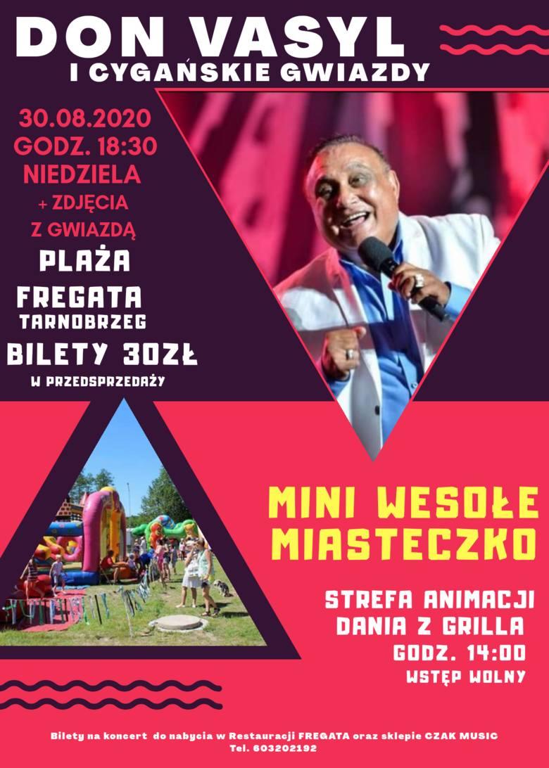 Don Vasyl i Cygańskie Gwiazdy w ostatnią niedzielę wakacji na Plaży Fregata w Tarnobrzegu. Do wygrania dwa bilety!