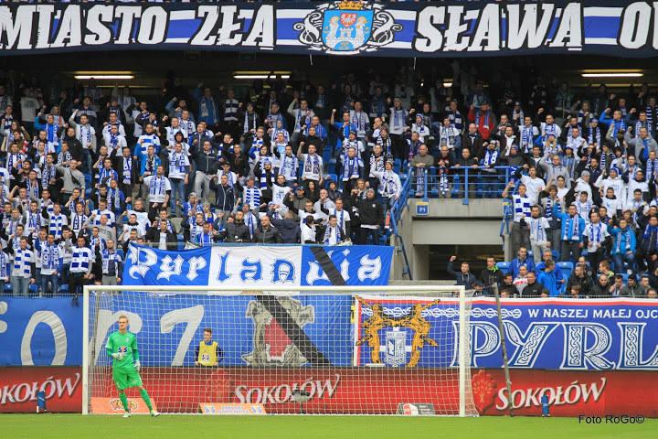 Kibice na meczu Lech Poznań - Piast Gliwice [GALERIA]