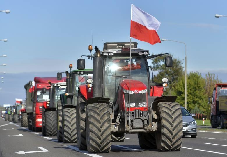 Protest na ulicach Radomia i powiatu radomskiego.>