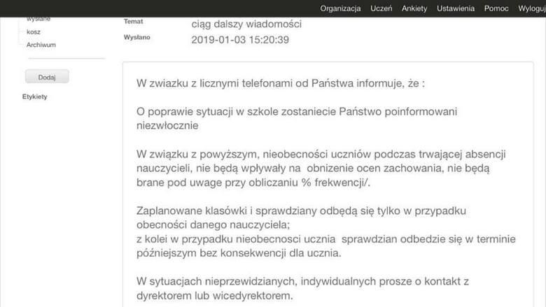 Dyrektor SP 205 poprosiła rodziców o zatrzymanie dzieci w domu. Szkoła ma problem z zapewnieniem im opieki. <br /> <br /> <br /> Złudzeń nie ma Marek Ćwiek, prezes Związku Nauczycielstwa Polskiego w okręgu łódzkim.<br /> <br /> - Nie ma co owijać w bawełnę. Wiadomo, o co chodzi. Posiadamy...