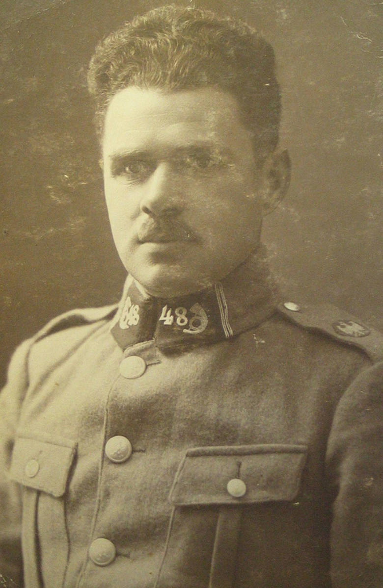 Ok. 1920 r. ojciec jako Hallerczyk, żołnierz 48. Pułku Strzelców Kresowych