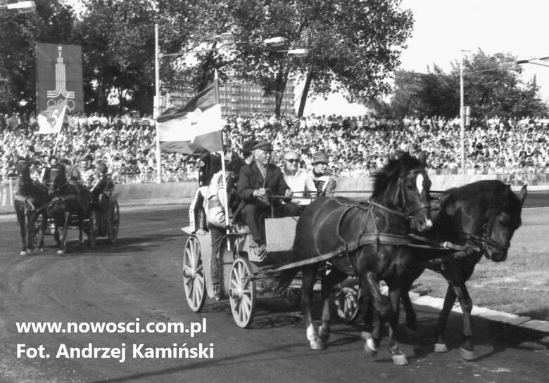 Inauguracja sezonu na stadionie przy Broniewskiego w 1980 roku
