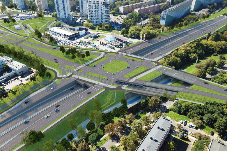 Nowa linia tramwajowa zostanie poprowadzona m.in. nad ulicą Opolską. Powstanie tam też tunel dla aut