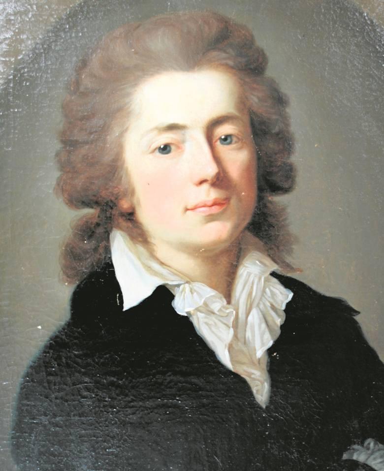 Jan Potocki w młodym wieku, miniatura nieznanego artysty z roku 1780, wielokrotnie później replikowana.